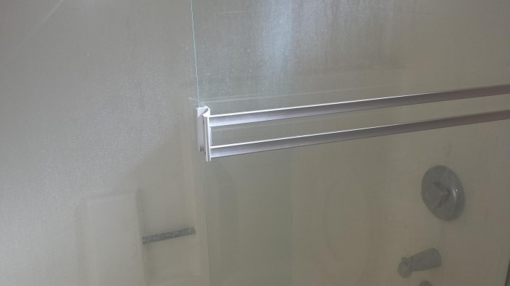 Before Cleaning of a Shower Door in Rancho Cucamonga, CA